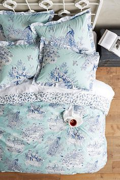 Striped Twin Queen King Size Bedding Set Bed Quilt Duvet Cover Solid Printed New Pillow Case. Our Duvet Cover Set areWithout Any Filler/Insert. Anthropologie Bedding, Anthropologie Home, Best Bedding Sets, Luxury Bedding Sets, Blue Duvet, Euro Pillow Shams, Cheap Bed Sheets, Bed Linen Design, Luxury Bedding Collections