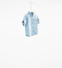 ZARA - ÚLTIMA SEMANA - Camisa denim remangable