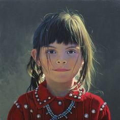 Little smile, miss Mari, Navajo by George Molnar
