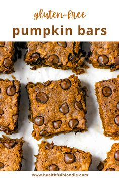 Super moist pumpkin spice oatmeal bars that are healthy, fluffy, and perfect for Fall! Made with oat flour, pumpkin puree, and maple syrup, these pumpkin oat bars are the perfect gluten free, dairy free, and nut free breakfast, snack, and dessert. #PumpkinDessert #Pumpkin #FallBaking #GlutenFree #HealthyDessert Oatmeal Breakfast Bars, Oatmeal Bars, Free Breakfast, Frozen Pumpkin, Pumpkin Puree, Pumpkin Spice, Gluten Free Pumpkin Bars, Healthy Pumpkin Bars, Healthy Gluten Free Recipes