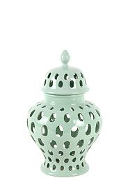 This ceramic ginger jar with cut out detail - R 3000 Decor, Ceramics, Home Furniture, Ginger Jars, Jar, Home Decor Online, Decor Shopping Online, Decorative Jars, Mr Price Home