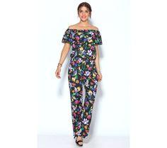 Overal s kvetinovou potlačou | modino.sk #ModinoSK #modino_sk #modino_style #style #fashion #summer #overal Jumpsuit, Floral, Dresses, Fashion, Neckline, Bias Tape, Black, Style, Overalls