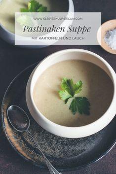 Cremige Suppe mit Pastinaken, Lauch und Kartoffeln.    Reichhaltige Suppe für kalte Wintertage.
