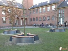 Boombank DeLuxe Antraciet Ovaal bij Stedelijk Gymnasium Leiden in Leiden