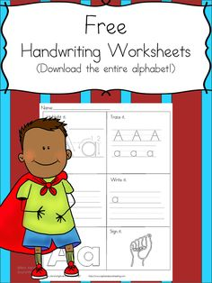 Printable Handwriting Worksheets for Kids - Mrs. Karle's Sight and Sound Reading