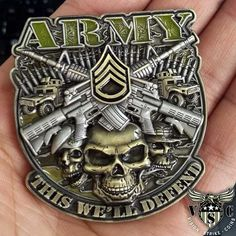 US Army Staff Sergeant This We'll Defend Army Rank Coin