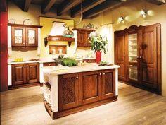 Cucine in finta muratura - Cucina azzurra con isola | House