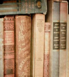 Vintage books aesthetic