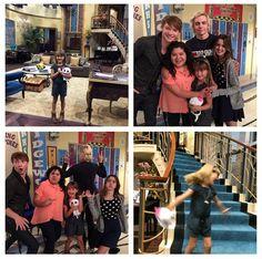 Austin & Ally cast on set! American Comedy Series, 4 Best Friends, Raini Rodriguez, Garrett Clayton, Disney Cast, Disney Channel Shows, Laura Marano, Austin And Ally, Cameron Boyce