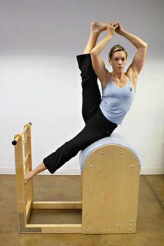 I wish!   Maybe someday I'll be a Pilates goddess...