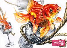건국대 기초디자인 구도 재질 홍대미술학원 Pencil Drawings, Art Drawings, Koi Painting, 3d Portrait, Color Pencil Sketch, Goldfish, Designs To Draw, Watercolor Paper, Colored Pencils