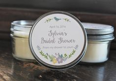 Set of 12  4 oz Bridal Shower Favor//Baby Shower by TheDancingWick
