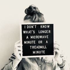 Diet •~• microwave minute or treadmill minute