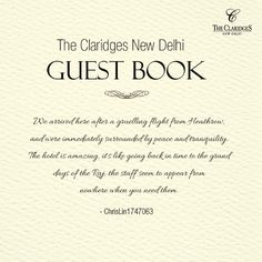 Our guests' generous praise is what continues to motivate us! http://bit.ly/1BNMfUc
