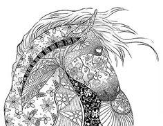 Zentangled caballo por Cindy Elsharouni