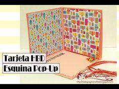 Cómo hacer una tarjeta esquina Pop-Up - Cumpleaños - DIY Card Tutorial - YouTube