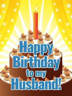 Festive Happy Birthday Card for Husband
