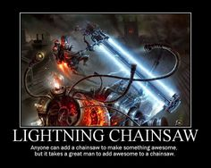 Lightning Chainsaw posted by Welknair