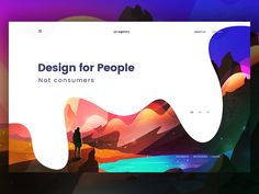Hello guys!! Design for people, not consumers. Here is an experimental 02 header section. Try to something different. Hope you like it. Illustration credit by @Willie.H Full view Recently i...