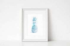 Pineapple Print/ Tropical Print/ Printable Art/ Pineapple