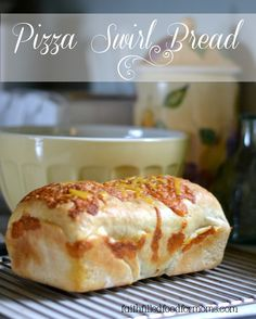 A delicious mix between homemade bread and pizza! Makes a fun and yummy toasted sandwich! Can also easily be frozen for later.