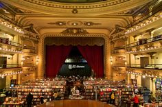 El Ateneo Grand Splendid in Buenos Aires - one of the most dramatic booksellers in the world.