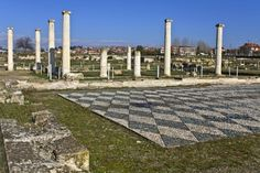 Archaeological site of Pella in Macedonia, Greece, repinned from http://www.greece-travel-secrets.com/Pella.html