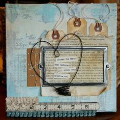 wire heart - tape measure - mixed media inspiration