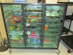 Makerspace Cart--an idea for having a selection of mobile supplies available for makerspaces. Put it away when you're done!