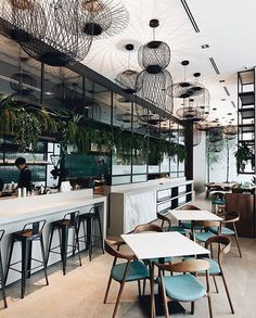 Design Restaurants • Interiors of restaurants and bars #InteriorDesignCafe