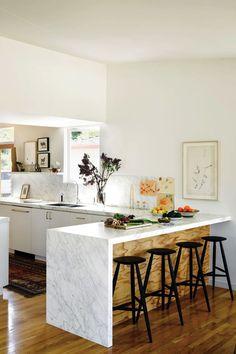 gorgeous kitchen. love that marble.
