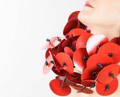 Silvia Beccaria Ruff: Colored Mora d'Inverno, 2014 Rubber, pvc, nylon 24 x 25 x 19 cm Photo by: Silvia Paganino From series: Big discs