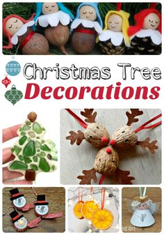 DIY Christmas Tree Ornaments from RedTedArt - great craft ideas for the whole family Christmas Ornaments To Make, All Things Christmas, Christmas Tree Decorations, Christmas Crafts, Xmas, Holiday Decor, Entertaining, Homemade, Blog