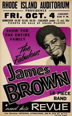 James Brown & His Revue - Rhode Island Auditorium - 1963 - Concert Poster James Brown, Concert Jazz, Rock Concert, Concert Flyer, Tour Posters, Band Posters, Event Posters, Movie Posters, Vintage Concert Posters