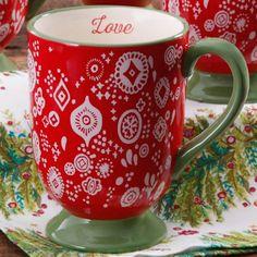 $4.88 The Pioneer Woman Bandana Red Latte Mug
