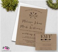 True Love Kraft Wedding Invitation