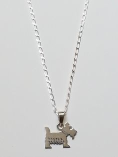Collar Perrito Plata COP010 by AnaGorozpe on Etsy