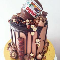Elegant Photo of Nutella Birthday Cake . Nutella Birthday Cake Pin Paris On Sweets And Treats In Birthday Cake 30, Nutella Birthday Cake, Nutella Cake, Nutella Chocolate, Chocolate Sweet Cake, Chocolate Birthday Cakes, Extreme Chocolate Cake, Desserts Nutella, Chocolate Drip Cake