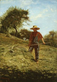 https://flic.kr/p/JcYWYC | Winslow Homer - Haymaking [1864] | Winslow Homer, one of America's foremost Realist painters in the nineteenth century, is still one of America's best known artists. He took up oil painting during the Civil War, after working as a freelance illustrator for magazines, including Harper's Weekly. Haymaking is a remarkable example of his ability to capture the crispness and clarity of light. After the years of national crisis, this prosperous and hale young farmer was…