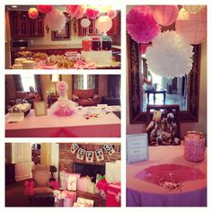 Pink themed baby shower