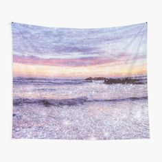 """""""Ocean Vintage Sparkly Aesthetic"""" Tapestry by ind3finite   Redbubble Hippy Room, Hippie Room Decor, Boho Decor, Tapestry Bedroom, Tapestry Wall Hanging, Rainbow Aesthetic, Thing 1, Tapestry Design, Textile Prints"""