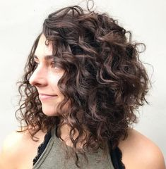 60 Styles and Cuts for Naturally Curly Hair :: Mirror Mirror long curly bob hairstyles - Bob Hairstyles Long Curly Bob, Curly Angled Bobs, Curly Lob, Curly Hair Styles, Curly Hair Cuts, Medium Hair Styles, Stacked Bobs, Layered Bobs, Angled Lob
