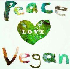 vegan peace love