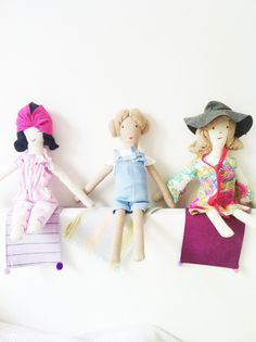 Dolls, handmade in Vienna Miss Pixie, Miss Olive and Miss Etta Vienna, Pixie, Dolls, My Love, Handmade, Products, Baby Dolls, Hand Made, Doll