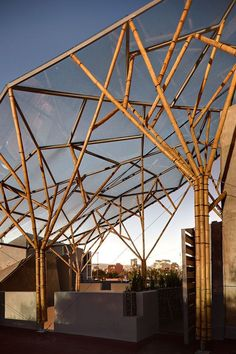 8 Unbelievable Cool Tips: Canopy Entrance Architecture canopy shade ideas.Canvas Canopy Home pop up canopy screens.Canvas Canopy Home. Atelier Architecture, Bamboo Architecture, Canopy Architecture, Architecture Design, Tree Structure, Bamboo Structure, Shade Structure, Garden Canopy, Diy Canopy