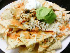 Vegan Chili Nachos Grande -- So good!