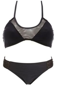 Black Mesh Bikini | Charlotte Russe Swimwear