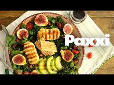 Σούπερ σαλάτα με λαχανικά, φρούτα, ξηρούς καρπούς και τυρί που μπορεί να αποτελέσει από μόνη της ένα πλήρες γεύμα. Superfood Salad, Superfoods, Salad Recipes, Dairy, Vegetarian, Cheese, Cook, Youtube, Kitchens