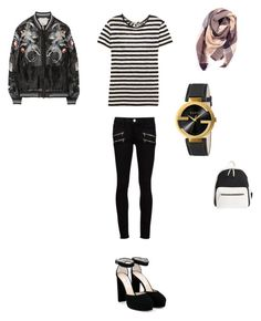 """""""Untitled #54"""" by egracelett-i on Polyvore featuring Proenza Schouler, Paige Denim, Jimmy Choo, Gucci, 3.1 Phillip Lim, Everest and Poverty Flats"""