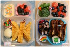 """Nut free lunch ideas.... Look past the impractical storage and """"decorations"""" and there are some real good ideas"""